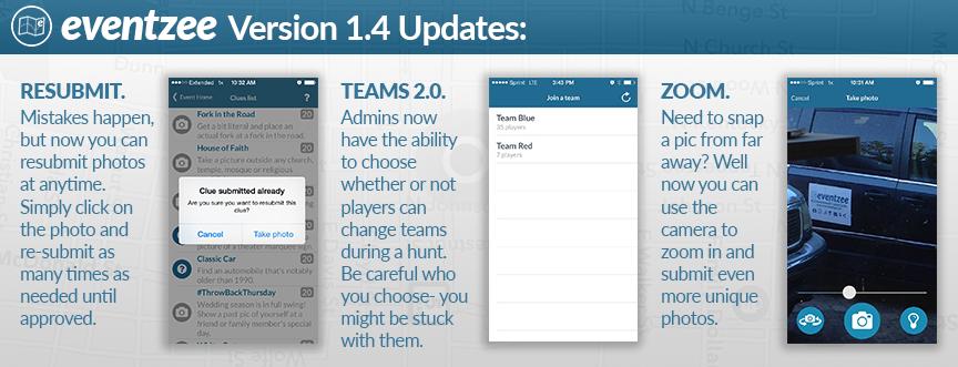 Eventzee Update Version 1.4