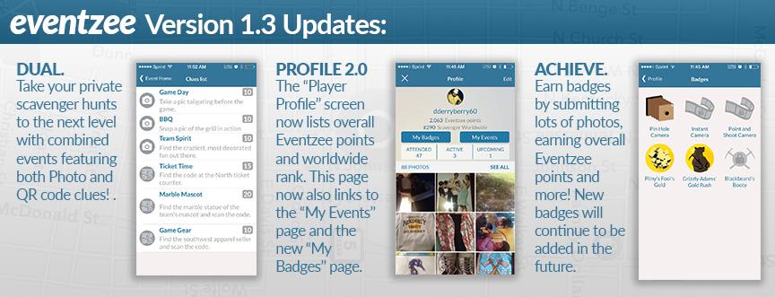 Eventzee Update Version 1.3