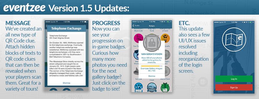 Eventzee Update Version 1.5