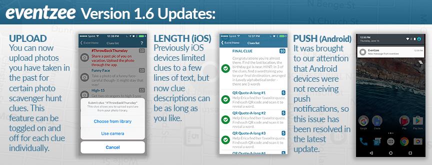 Eventzee Update Version 1.6